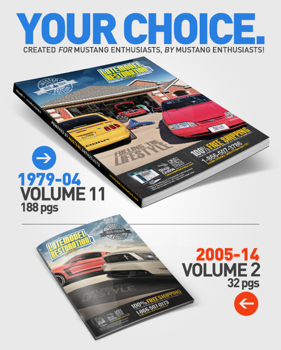 Your choice of Mustang catalog